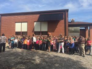 JOHNSTON CITY LINCOLN SCHOOL RIBBON CUTTING