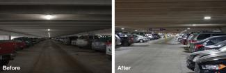 LED BEFORE AFTER PARKING RAMP